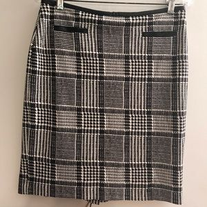 Talbots Black and White Plaid Skirt Size 6P